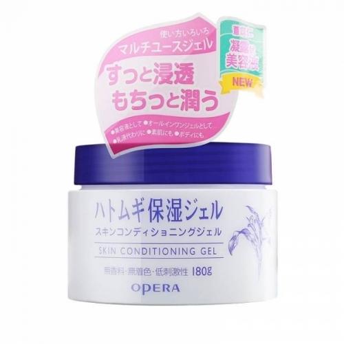 【直邮】日本Opera娥佩兰薏仁精华啫喱补水保湿滋润肤乳液面霜180g