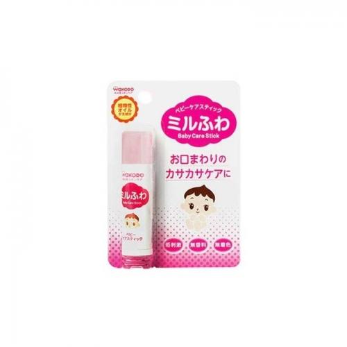 【直邮】日本wakodo和光堂儿童润唇膏宝宝保湿滋润补水可食...