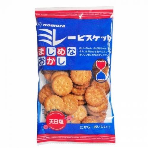 【直邮】日本野村天日盐小圆饼干130g