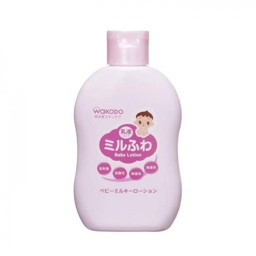 【直邮】日本Wakodo和光堂婴幼儿身体乳润肤乳全身可用温和...