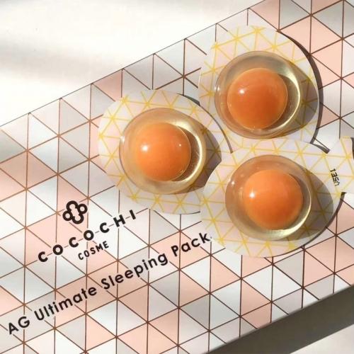 【直邮】日本cocochiAG抗糖小鸡蛋5枚装睡眠面膜免洗小肌蛋夜间修护保湿