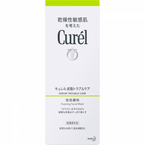 【直邮】日本Curel珂润控油舒缓泡沫洗面奶绿色150ml