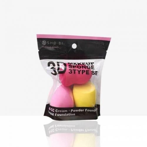 【直邮】日本PROVENCE 3D化妆干湿两用海绵粉扑钻石美妆彩妆蛋黑色包装