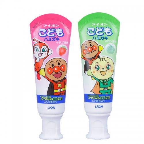 【直邮】日本Lion狮王面包超人儿童牙膏宝宝1-6岁儿童哈密...