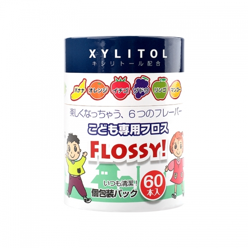 【直邮】日本FLOSSY优福喜幼儿专用牙线棒水果味60支装