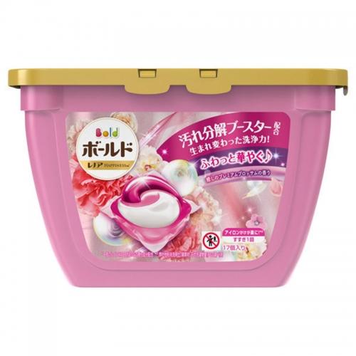 【保税】宝洁碧浪洗衣球17颗粉色