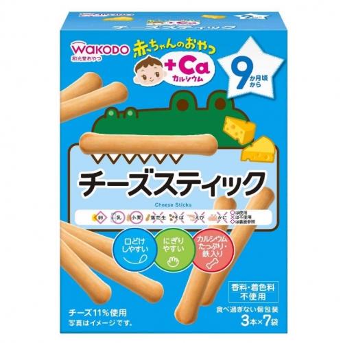 【批发】日本人气和光堂高钙乳酪芝士磨牙棒磨牙饼手指饼干婴幼儿...