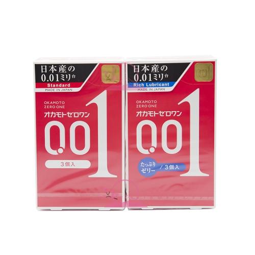 【直邮】日本冈本001避孕套安全套3只装