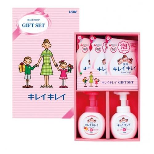 【批发】日本LION狮王泡沫儿童洗手液礼盒装