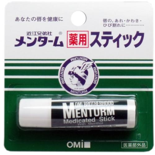 【批发】日本OMI近江兄弟薄荷润唇膏无色滋润持久保湿护唇4g