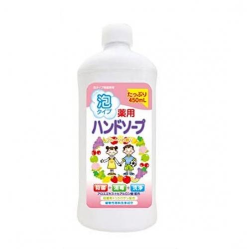 【批发】日本人气药用泡沫杀菌洗手液水果味补充装450ml