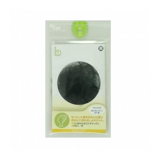 【批发】日本KAI贝印头花隐形发网黑色盘发网兜6个装