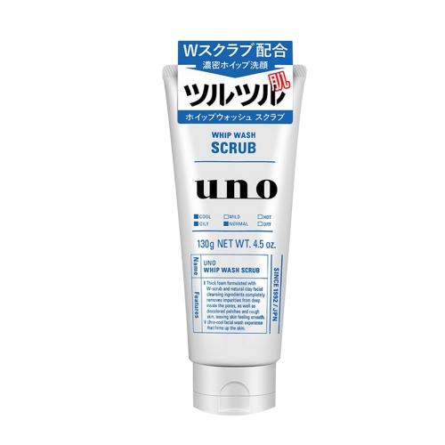 【保税】资生堂吾诺(UNO)男士劲爽磨砂洗面奶130g蓝色