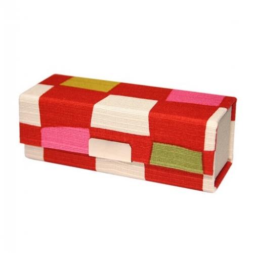 【批发】日本口红保护盒方格红