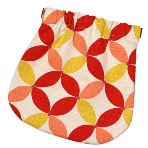 【批发】日本小物件收纳袋七宝红白