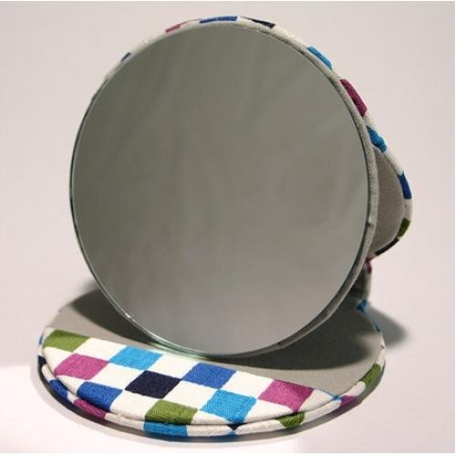 【批发】日本圆手镜方格蓝