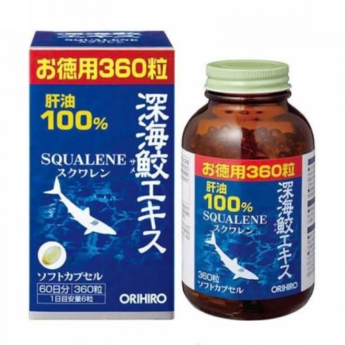 【直邮】日本ORIHIRO立喜乐深海鱼油鲨鱼鲛精华100%肝...