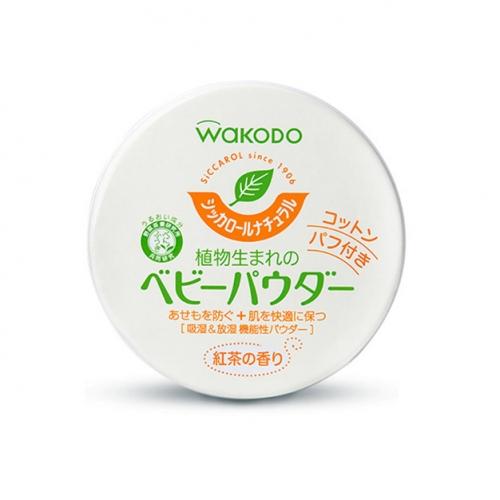 【保税】日本和光堂爽身粉红茶香120g绿色