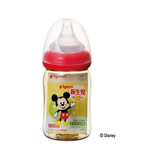 【保税】贝亲母乳实感塑料奶瓶160ml米奇图案