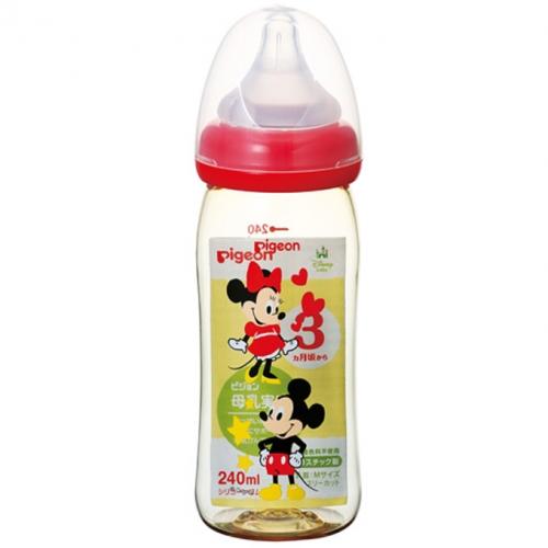 【保税】贝亲母乳实感塑料奶瓶240ml米奇图案