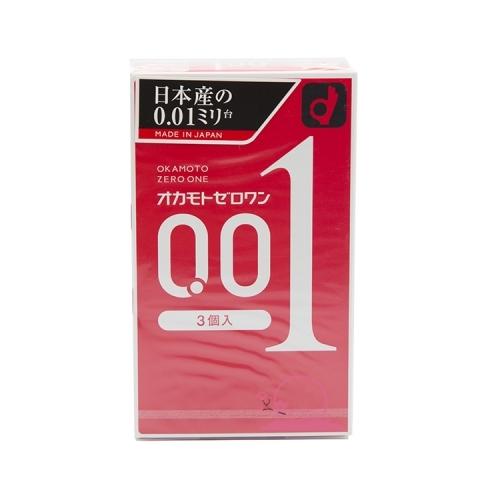 【保税】日本OKAMOTO冈本001避孕套3枚