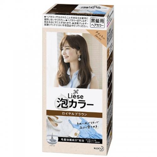 【保税】日本KAO花王泡沫染发膏皇室高贵棕108ml