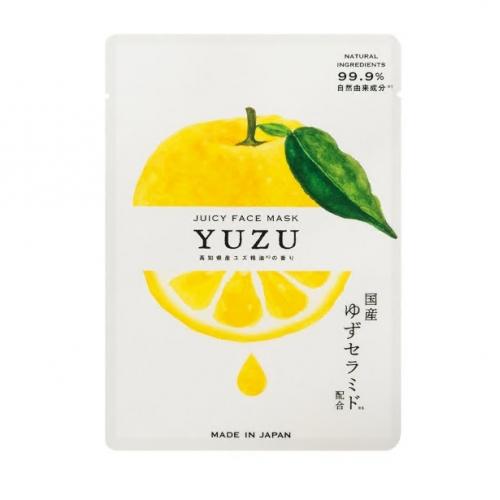 【批发】日本YUZU柚子神经酰胺保湿滋润紧致肌肤精华面膜1片