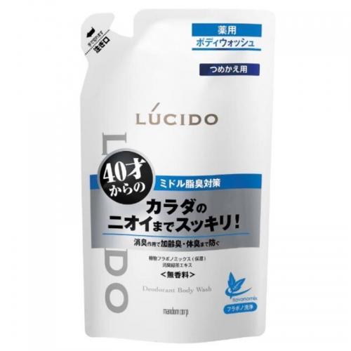 【批发】日本Mandom曼丹药用除臭沐浴露替换装380ml