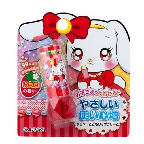 【批发】日本Dariya儿童润唇膏口红可食用唇膏草莓味2.6...