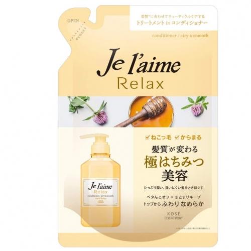 【批发】日本KOSE高丝舒缓秀发护发素花蜜香味替换装360m...