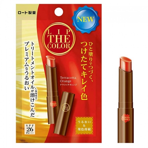 【批发】日本ROHTO口红唇彩有色滋润唇膏2g(红陶橙色)