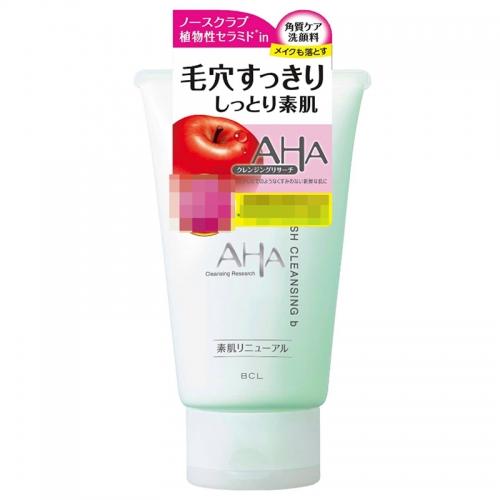 【直邮】日本BCL AHA苹果角质护理洁面乳补水保湿敏感肌温...